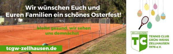 Frohe Ostern + Verschiebung Medenrunde